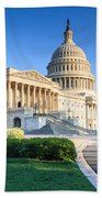 Powerful - Washington Dc Morning Light On Us Capitol Bath Towel
