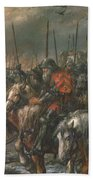 Morning Of The Battle Of Agincourt, 25th October 1415, 1884 Oil On Canvas Bath Towel