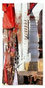 Morning Offerings - Narmada River Source - Amarkantak India Bath Towel