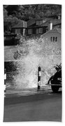 Morris Minor And The Wave Bath Towel