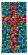 Mosaic Tile Cross Bath Towel