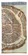 Moscow: Map, 1662 Bath Towel