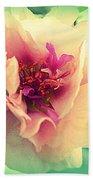 Moss Rose Abstract Bath Towel