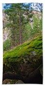 Mossy Rocks Along Vernal Falls Trail Bath Towel