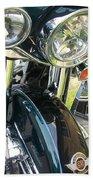 Motorcyle Classic Headlight Bath Towel