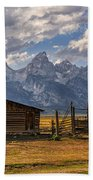 Moulton Barn Panorama - Grand Teton National Park Wyoming Bath Towel