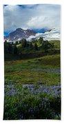 Mount Baker Lupine Meadows Bath Towel