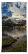 Mount Baker Skies Reflection Bath Towel