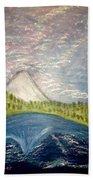 Mount Hood Night Sky Bath Towel