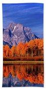 Mount Moran And Fall Color Grand Tetons Bath Towel