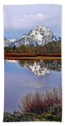 Mount Moran And Jackson Lake Bath Towel