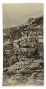 Mount Of The Temptation Monestary Jericho Israel Antiqued Bath Towel