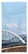 Mount Rainier Backdrop Bath Towel