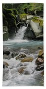 Mount Rainier Falls Bath Towel