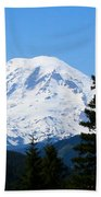 Mount Rainier Panorama Bath Towel