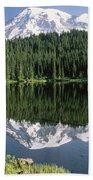 Mount Rainier Reflection Bath Towel