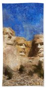 Mount Rushmore Monument Photo Art Bath Towel