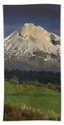 Mount Taranaki Western Flanks New Bath Towel