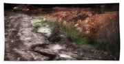 Mount Trashmore - Series Iv - Painted Photograph Bath Towel