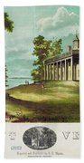 Mount Vernon, 1859 Bath Towel