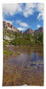 Mountain Lake In The Dolomites Bath Towel