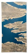 Mountain River From The Air Bath Towel