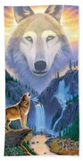 Mountain Wolf Bath Towel