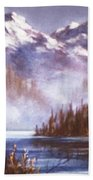 Mountains And Inlet Bath Towel