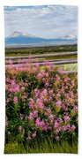Mountains And Wildflowers Bath Towel