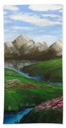 Mountains In Springtime Bath Towel