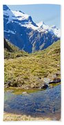 Mountains Of New Zealand Bath Towel