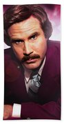 Mr. Ron Mr. Ron Burgundy From Anchorman Hand Towel
