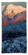 Mt Adams Sunset Bath Towel