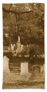 Mt Auburn Cemetery 13 Sepia Bath Towel