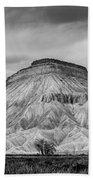 Mt. Garfield - Black And White Bath Towel