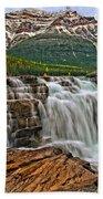 Mt. Kerkeslin  Athabasca Falls Bath Towel