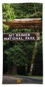 Mt Rainier Gateway Bath Towel