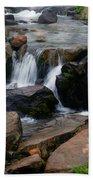 Mt Rainier Mountain Stream Bath Towel