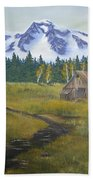 Mt Rainier Ranch Bath Towel