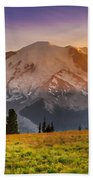 Mt. Rainier Sunset 2 Bath Towel