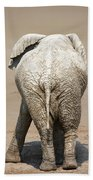Muddy Elephant With Funny Stance  Bath Towel