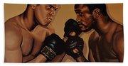 Muhammad Ali And Joe Frazier Bath Towel