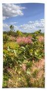 Muhly Grass And Sea Grape Plants Along A Florida Coastline Bath Towel