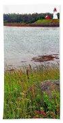 Mulholland Point Lighthouse On  Campobello Island-nb Bath Towel