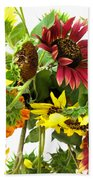 Multi-color Sunflowers Bath Towel
