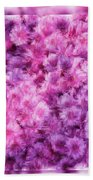 Mums In Purple - Featured In 'comfortable Art' And 'nature Photography' Groups Bath Towel