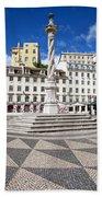 Municipal Square In Lisbon Bath Towel