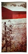 Murder In The Red Barn Bath Towel