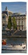 Musee D'orsay Along River Seine Bath Towel
