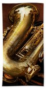 Music - Brass - Saxophone  Bath Towel
